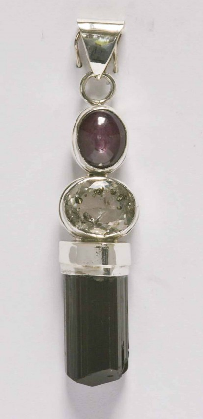 Star Ruby Pyrite In Quartz Tourmaline